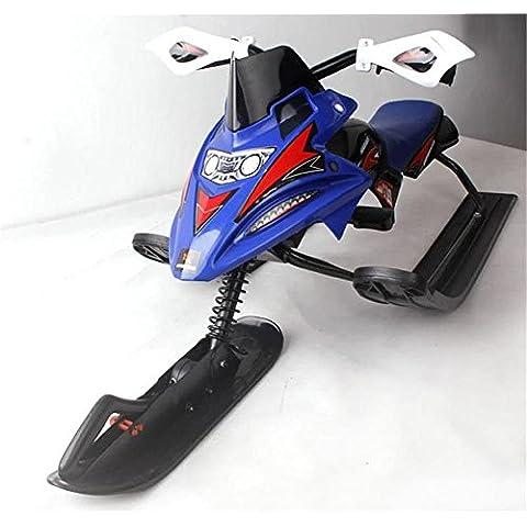 ALUK- Adultos Niños Esquí moto con freno del coche trineo de hielo (sin alimentación)