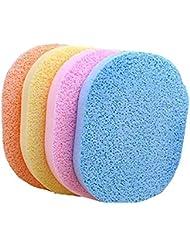 6 pcs Cellulose Éponge Nettoyante, Aquiver éponge Naturelle pour le lavage du visage, visage nettoyage, Ex-foliating ou le maquillage