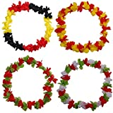 Hawaiikette Blumenkette Hawaiiketten WM 2018 Russland Fußball Fanartikel Hawaii Kette Blume Halskette Bumen Halsketten (Portugal)