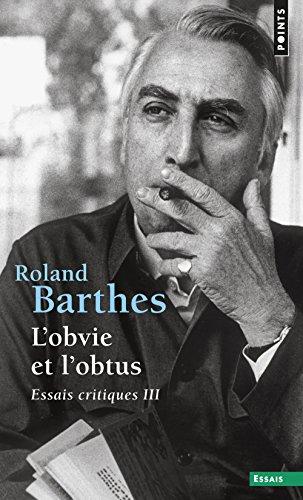 L'obvie et l'obtus par Roland Barthes
