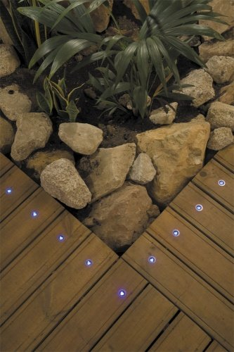 Decking lights LED blue set of 10