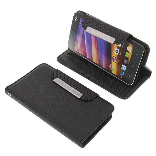 Tasche für Wiko Jimmy Book Style Metall schwarz Kreditkarte Schutz Hülle Buch