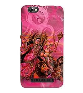 Durga Maa 3D Hard Polycarbonate Designer Back Case Cover for Lenovo Vibe C