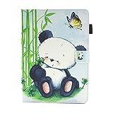 LMFULM® Hülle für Huawei MediaPad M3 Lite 10 (10,1 Zoll) PU Leder Ultra Dünn Magnetverschluss Faltbare Lederhülle Malerei Schöner Panda Muster von Bookstyle mit Kartenschlitz und Standfunktion Tasche Schutzhülle für Huawei M3 Lite 10,1