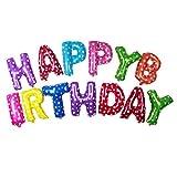 NUOLUX Happy Birthday palloncini, palloncini di lettere 16 pollici (Colorful)