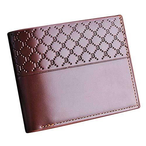 c7899c33d LMSHM Portefeuille Court Homme Portefeuilles en Cuir PU pour Hommes Bi-Fold  Slim Fold Flip