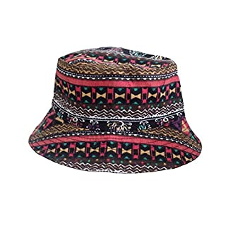 ACVIP Women's Summer Vacation Beach Sun Protection Bucket Hats (boho style)