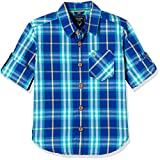 Allen Solly Junior Boys' Checkered Regular Fit Cotton Shirt
