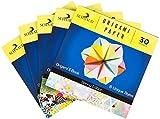 Origami Papier Set 150 Blätter + Origami Set mit E-Book, Bastelpapier mit wunderschönen Mustern, Faltpapier zum Basteln, Buntes Papier