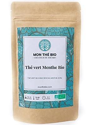 Thé vert Menthe BIO - Sachet 200g - Certifié agriculture biologique