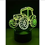 Shuyinju  3D Cool Beach Dune Buggy Car Led Night Light 7 Colori Gradient Lamp Man Kids Boy Sleeping Christmas Birthday Party Gift