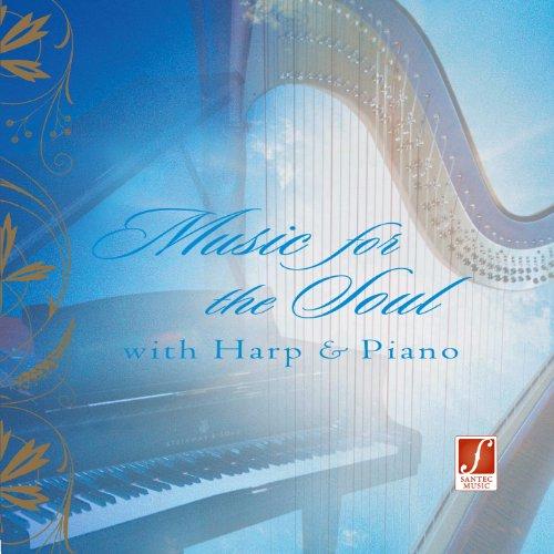 Musik für die Seele - Harfe mit Flügel spielen ruhige und innige Musik zur Entspa...