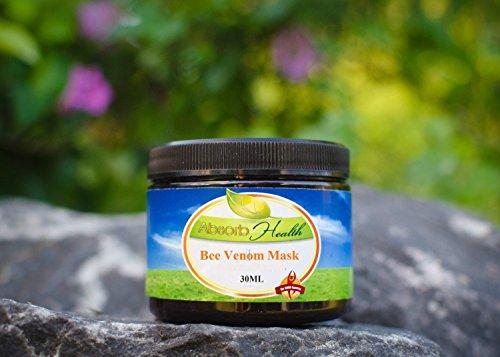 Venin d'Abeille Masque | Crème pour le jour ou la nuit | 1 once ou deux onces | Naturel Miel de Manuka, acide hyaluronique, et Shea