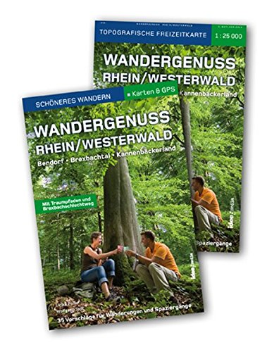 Wandergenuss Rhein-Westerwald. Start-Set Buch und Karte 1:25 000. Mehr als 30 Vorschläge für traumhafte Wanderungen und Spaziergänge. Mit GPS-Download und Gürteltasche