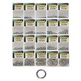 Rosco Sprengringe Edelstahl, Sprengring mit 4,3-29,5mm Durchmesser zur Auswahl, Springringe, rostfrei, Süßwasser & Salzwasser geeignet, Größe:6