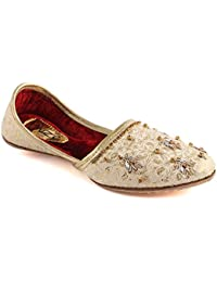 Unze Muchachos de Oro Flat Sofonías Cuero Tradicional India Kids Punjabi Jutti Khussa UK Size 1