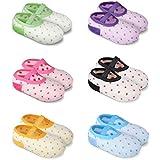 Naisidier 6 Pares de Calcetines Socks Antideslizantes para Niñas Niños Bebe Tobilleros de Colores Original