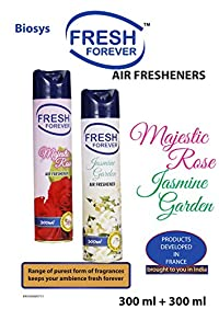 Fresh Forever Air Freshener Combo Majestic Rose and Jasmine Garden