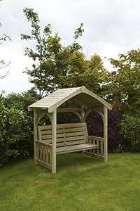 hgg gartenlaube mit sitzbank holz f r den au enbereich aus holz f r den garten die terrasse. Black Bedroom Furniture Sets. Home Design Ideas
