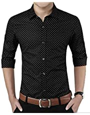 ZAKOD Polka Print Dotted Cotton Shirts for Men for Formal Wear,100% Cotton Shirts,Available Sizes M=38,L=40,XL=42