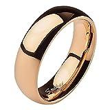 Mianova Band Ring Edelstahl Bandring Ehering Herrenring Damenring Partnerring Verlobungsring Damen Herren Rosegold Größe 63 (20.1) Breit 6mm