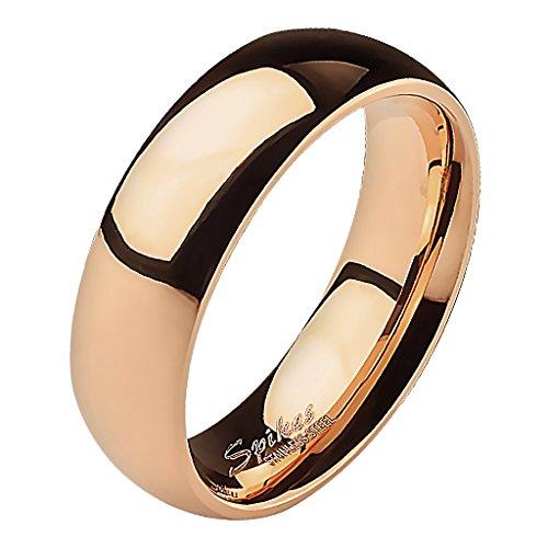 Mianova Band-Ring Edelstahl Herrenring Damenring Partnerring Trauring Verlobungsring Damen Herren Rosegold Größe 60 (19.1) Breit 6mm (Männer Band Gold Für Rose Hochzeit)