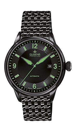 Dugena - 7090301 - Montre Homme - Automatique - Analogique - Aiguilles Lumineuses - Bracelet Acier Inoxydable Noir