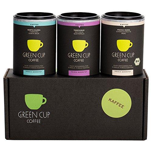 Green Cup Coffee Kaffee Probierset - sortenreine, fair gehandelte Arabica Kaffeebohnen in...
