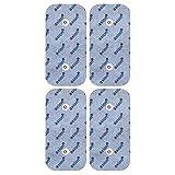 Electrodes pour electrostimulateurs COMPEX SNAP - 4 électrodes 10 x 5 cm - patch/pads d'electrostimulation tens connexion cefar Compex...