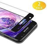 BANNIO 2 Stück für Panzerglas für Samsung Galaxy J3 2017,3D Full Sreen Panzerglasfolie Schutzfolie für Samsung Galaxy J3 2017,9H Härte,Leicht Anzubringen,Vollständige Abdeckung,Schwarz