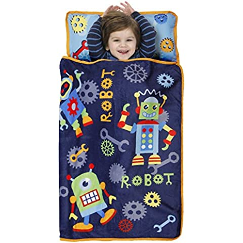 Baby Boom Toddler Nap Mat, Action Robots/Blue/Red, Action Robots/Blue/Red