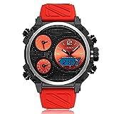 HWCOO AD1801 Casual Silikonband Quarz elektronische Uhr Herrenuhr ( Color : 3 )