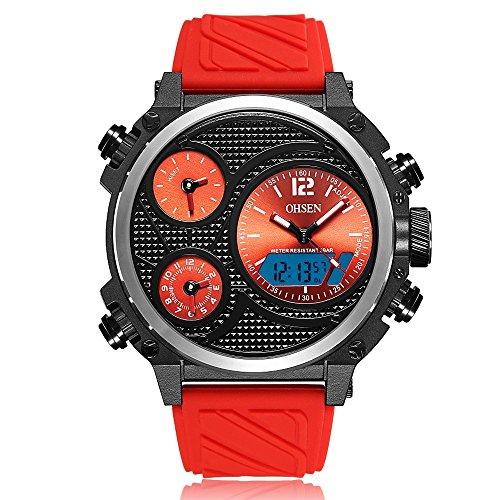 FENKOO Sportuhren AD1801 Casual Silikonband Quarz elektronische Uhr Herrenuhr (Color : 3)