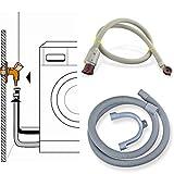 Stabilo-Sanitaer Anschluss-Set Sicherheits Zulaufschlauch 3/ 4 Zoll 3m Anschlußschlauch Schlauch Waschmaschine Aquastop Platzsicherung Ablaufschlauch