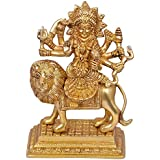 [Sponsored]Nexplora Industries Durga Maa Hindu Goddess Religious Pure Brass Statue Idol Sculpture Lucky Figurine House Warming Gift Home Decor Puja/Pooja Item 1.8 Kg