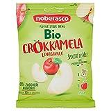 Noberasco Bio Crokkamela - cartoncino con 12 confezioni da 20 g-Mele essiccate biologiche di origine italiana