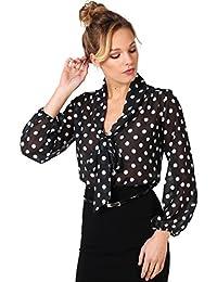 KRISP Damen Elegante Bluse Chiffon Schluppenbluse Oberteil Große Größen 36 - 48