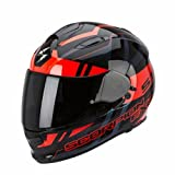 Scorpion Helm, Schwarz/Rot, S