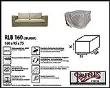RLB160straight Hülle für Lounge Bank, Rattan Gartensofa oder Lounge Sofa, 160 cm Schutzhüllen für Bank, Schutzhülle für Lounge Bänke, Abdeckhaube Schutzhülle Schutz-Plane für...