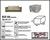 Raffles Covers RLB160straight Wetterschutz für Lounge Sofa 160 x 95 H: 75 cm Loungesofa Abdeckung, Schutzhülle für Gartensofa, Wetterschutz für Rattan Garten Lounge