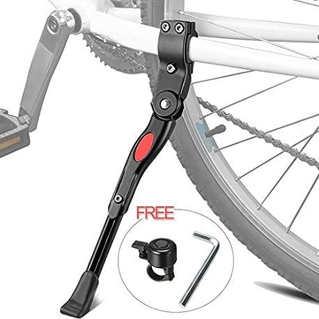 Pata de Cabra para Bicicleta XiDe Aluminio Soporte Ajustable del Retroceso de Bici Caballete Bicicleta con Llave Hexagonal y Ca