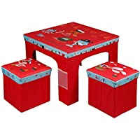 Rexco Childrens Kids Toddler Square Folding Pirate Design Table and Chairs Stool Set Foldable Playroom Bedroom  sc 1 st  Amazon UK & Toddler Table and Chair Sets: Amazon.co.uk