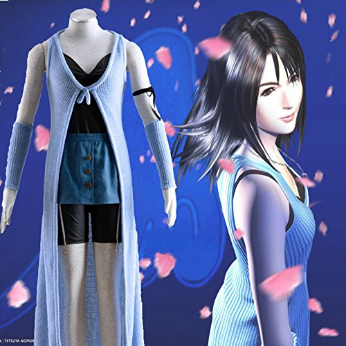 Spiel Final Fantasy VIII Rinoa Heartilly Cosplay Kostüm Perfekt für Halloween Cosplay Mailen Sie uns Ihre Größe,Größe L:(165-170 (Cosplay Heartilly Rinoa Kostüm)