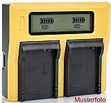 Bundlestar LCD Cargador doble de batería para CANON LP-E6 LP-E6N