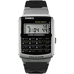 Casio CA56 - Reloj Unisex caucho Negro / Plata