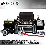 Awsgtdrtg 1 Satz Elektrische 9500lbs Auto Winch Wire Recovery Winde Abschleppseilzugseilzug Kit 12 V / 24 V ATV Quad ATV Bootsanhänger LKW Winden,24V
