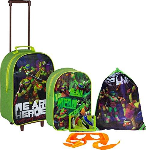 Teenage Mutant Ninja Turtles 5Stück Gepäck Set–Grün, der ultimative Gepäck Set für einen Teenage Mutant Ninja Turtles Fan, enthält es alles, was ihr Kind wird für Transport Ihrer (Es Ninja)