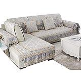 SSDLRSF Sofa-Slipcovers Vier Jahreszeiten rutschfestes, gepolstertes Kissen aus Baumwolle