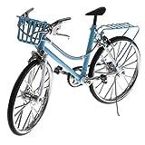 Baoblaze 1:10 Modello Biciclette Ciclette Miniatura Case Bambole Giocattoli Bambini Lega Blu