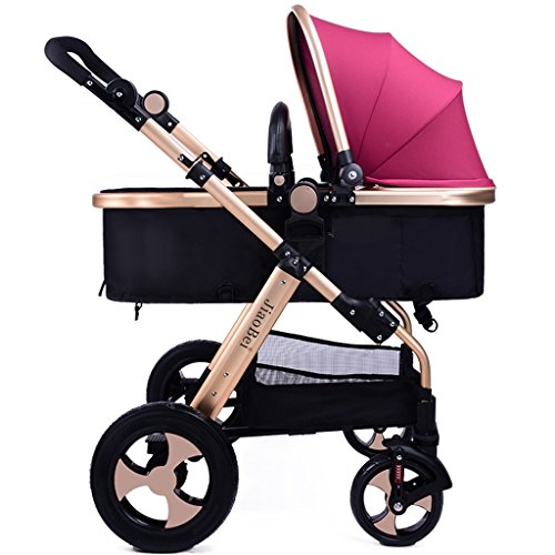 Anna Baby Stroller Travel System Baby Stroller High Landscape Baby Carriage Can Lie Down Can Sit   Lightweight Fold Explosion-proof Wheel Trolley Adjustable Pushchair stroller 51NT74ohLEL